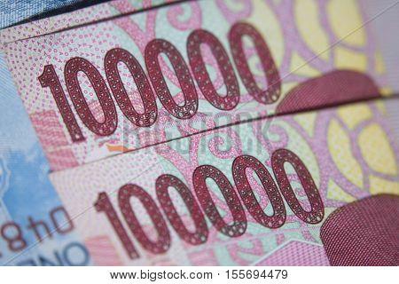 Rupiah Stack Macro Close Up Payment Money