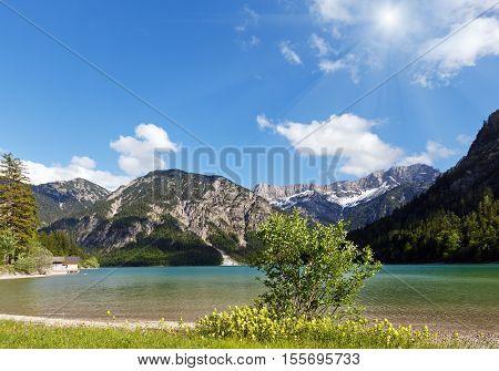 Plansee Summer Sunshiny Landscape