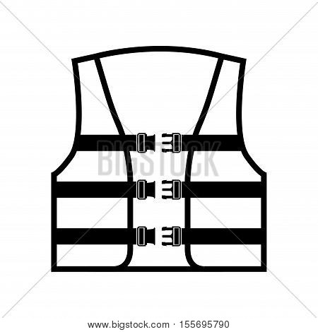 safety vest icon over white background. vector illustration