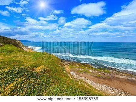 Sunshiny Atlantic Beach View.