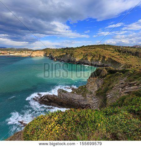 Summer Ocean Bay Coastline (spain).