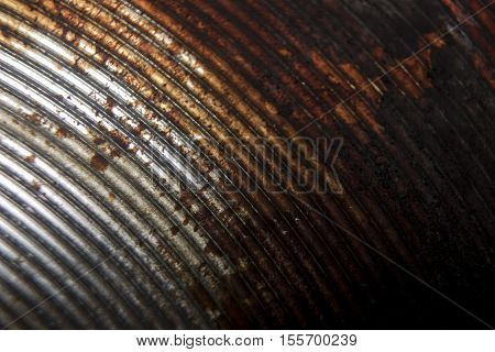 Oily Rusty Metal Plate Close Up Macro Art