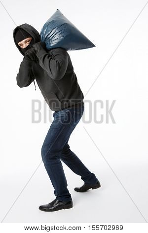 Thief on pure white background