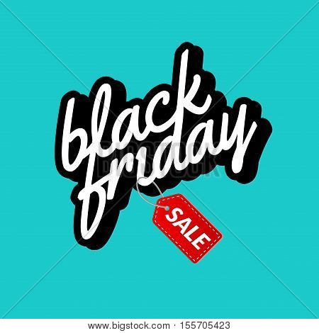 Black Friday Calligraphic lettering retro poster sign. Label design vector template. Retro Sale Discount Banner for market.