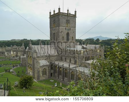 St. Davids Cathedral in Pembrokeshire - Wales, United Kingdom