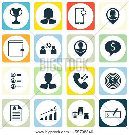 Set Of Human Resources Icons On Business Deal, Job Applicants And Pin Employee Topics. Editable Vect