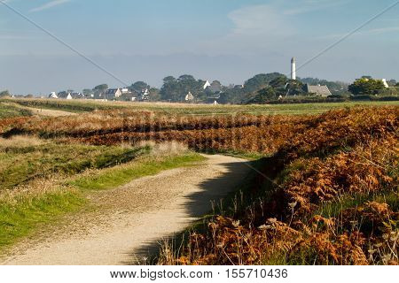 Typical autumn landscape in the Finistere Bretagne - France