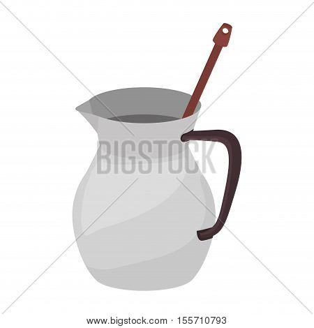 full color with jug chocolate and beater vector illustration