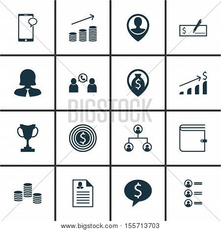 Set Of Human Resources Icons On Job Applicants, Money And Money Navigation Topics. Editable Vector I