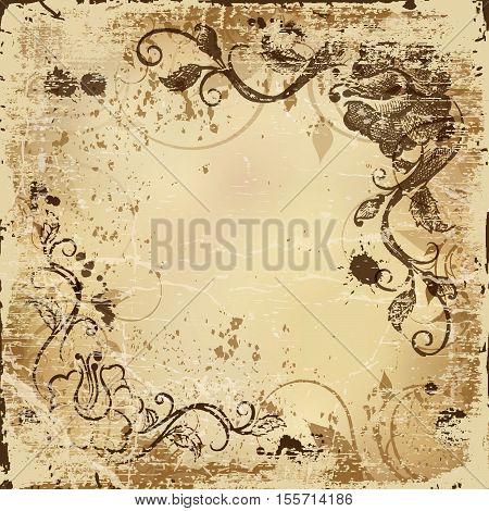 Shabby background old paper texture vintage grunge retro