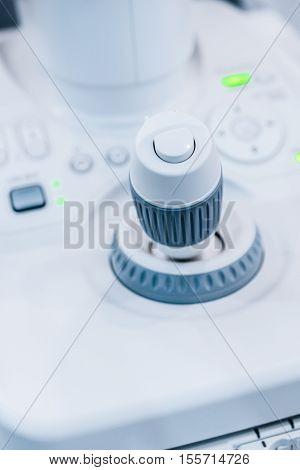 Joystick medical research unit. Special equipment controls