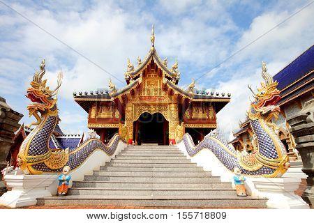 Wat Den Sa Lee Si Mueng GanTemples in Chiang Mai Thailand.