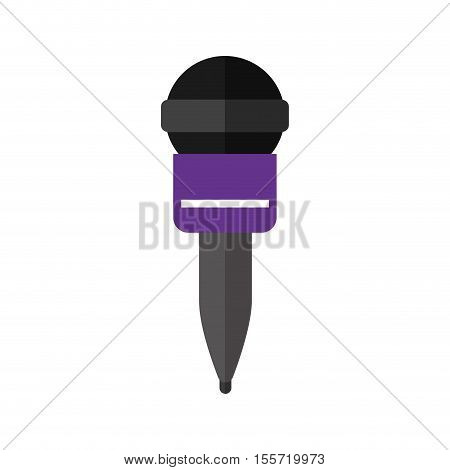 microphone wireless with purple support vector illustration