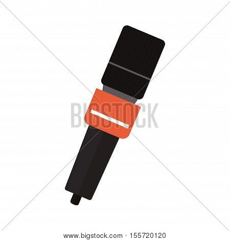 microphone wireless with square grid vector illustration