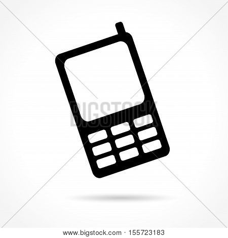Illustration of mobile phone icon on white background
