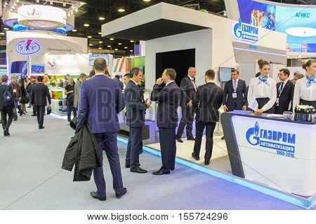 St. Petersburg, Russia - 4 October, Different people on the forum, 4 October, 2016. Petersburg Gas Forum which takes place in Expoforum.