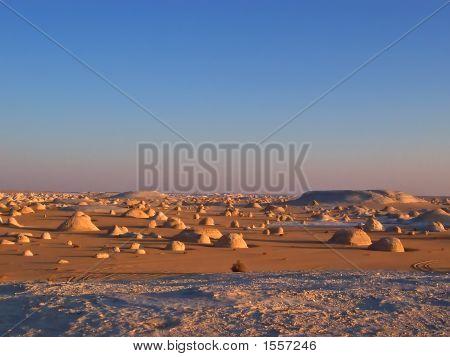 Many Small Rocks In The White Desert, Lybian Desert, Egypt