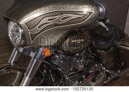 Harley-davidson Motorbike On Display At Eicma 2016