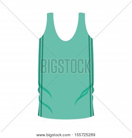 man undershirt green with vertical lines vector illustration