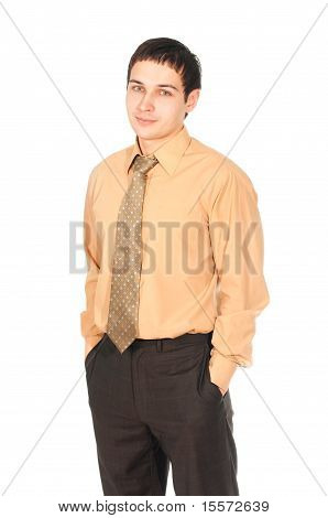 Young Smiling Business Man