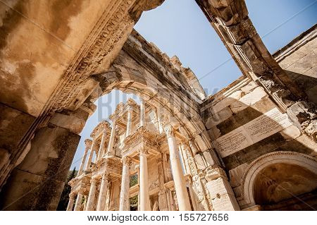 Ephesus Ancient City Celsus Library in Turkey