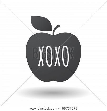 Isolated Apple Fruit With    The Text Xoxo