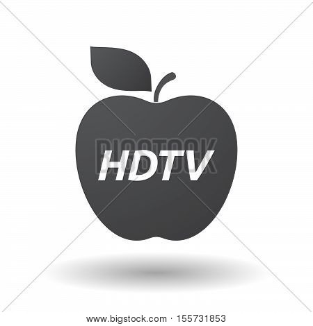Isolated Apple Fruit With    The Text Hdtv