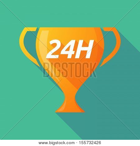 Long Shadow Award Cup With    The Text 24H