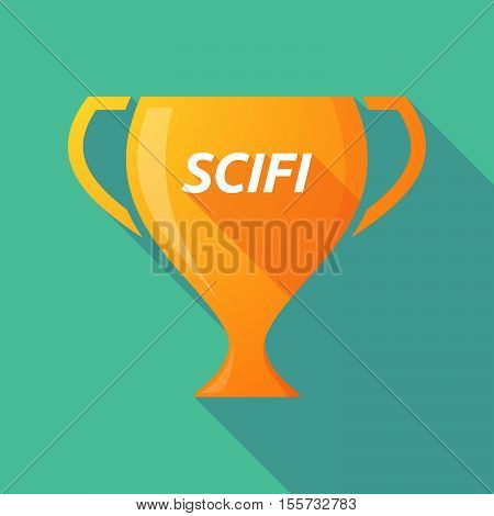 Long Shadow Award Cup With    The Text Scifi