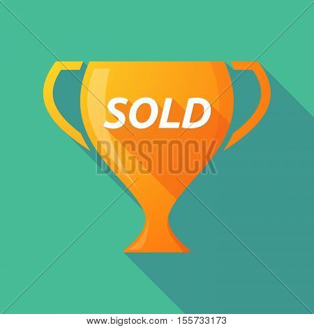 Long Shadow Award Cup With    The Text Sold