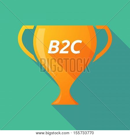 Long Shadow Award Cup With    The Text B2C