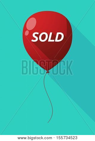 Long Shadow Balloon With    The Text Sold