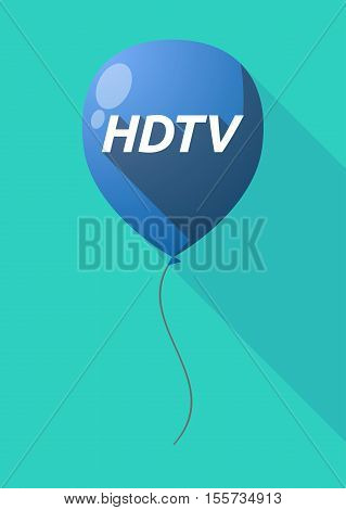 Long Shadow Balloon With    The Text Hdtv