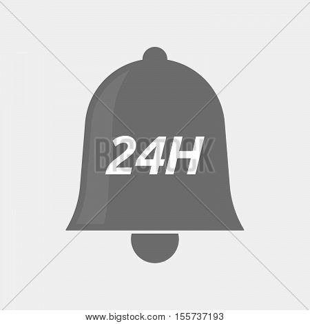 Isolated Bell Icon With    The Text 24H