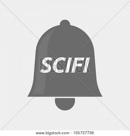 Isolated Bell Icon With    The Text Scifi