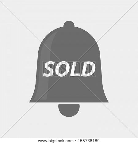 Isolated Bell Icon With    The Text Sold