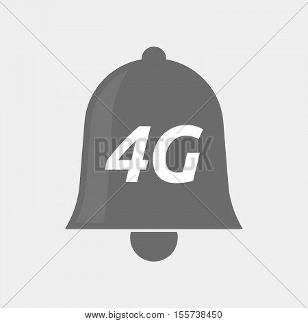 Isolated Bell Icon With    The Text 4G