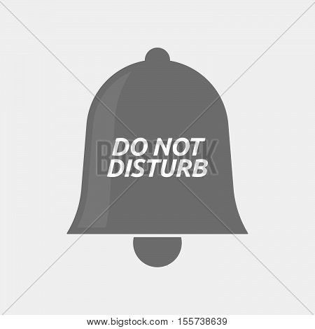 Isolated Bell Icon With    The Text Do Not Disturb