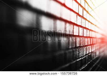 Diagonal brick wall with light leak background hd