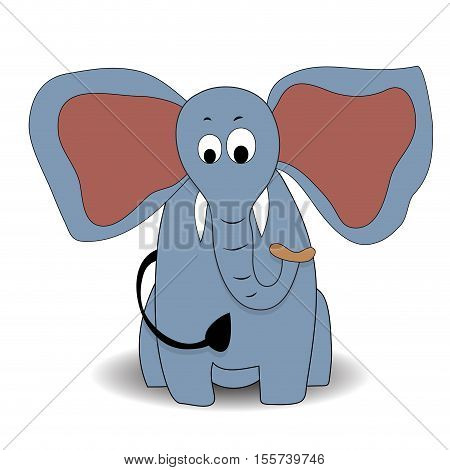 Cartoon character elephant. Elephant cartoon animals elephant vector illustration