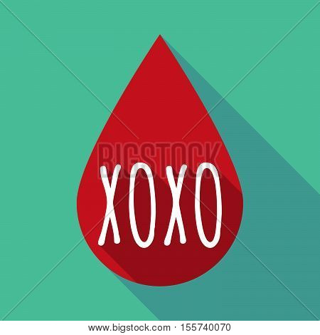Long Shadow Blood Drop With    The Text Xoxo