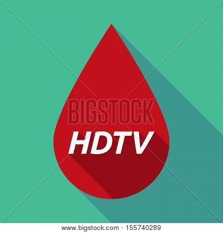 Long Shadow Blood Drop With    The Text Hdtv