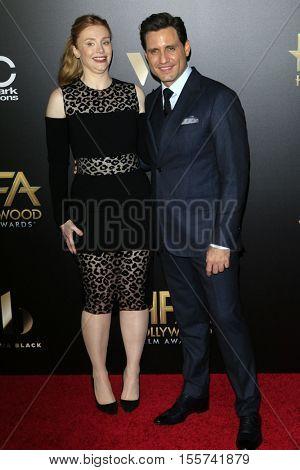 LOS ANGELES - NOV 6:  Bryce Dallas Howard, Edgar Ramirez at the 20th Annual Hollywood Film Awards  at Beverly Hilton Hotel on November 6, 2016 in Beverly Hills, CA