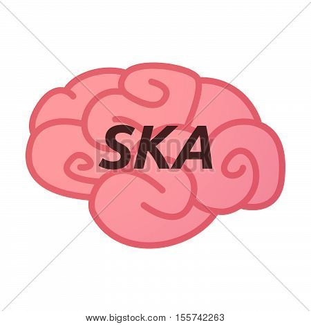 Isolated Brain Icon With    The Text Ska