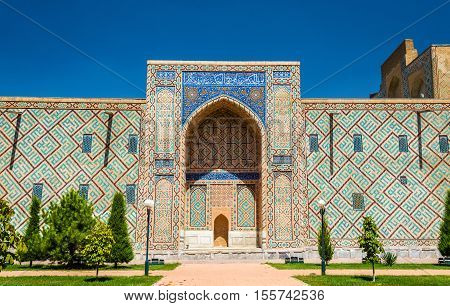 Ulugh Beg Madrasah on Registan square in Samarkand - Uzbekistan