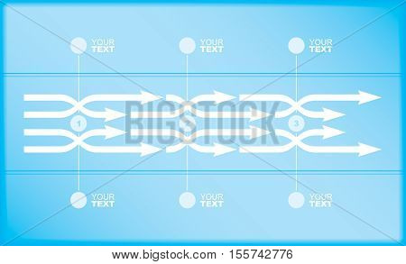 Vector flow chart template with arrows. Abstract vector illustration.