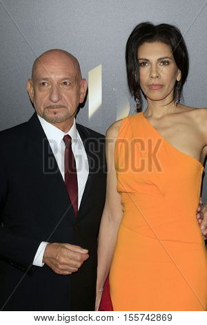 LOS ANGELES - NOV 6:  Sir Ben Kingsley, Daniela Lavender at the 20th Annual Hollywood Film Awards  at Beverly Hilton Hotel on November 6, 2016 in Beverly Hills, CA