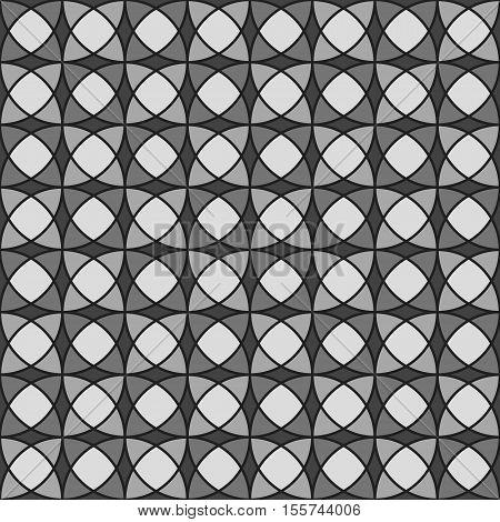 Ornate geometric seamless pattern, black vector illustration