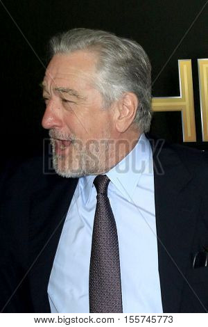 LOS ANGELES - NOV 6:  Robert De Niro at the 20th Annual Hollywood Film Awards  at Beverly Hilton Hotel on November 6, 2016 in Beverly Hills, CA