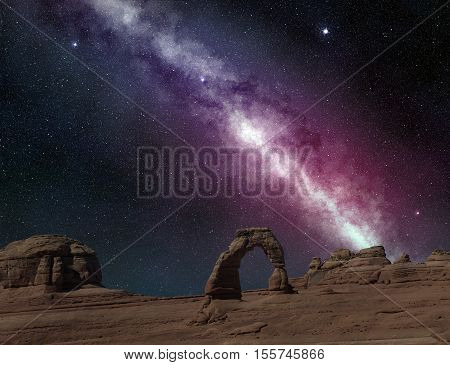 milky way in arches national park utah